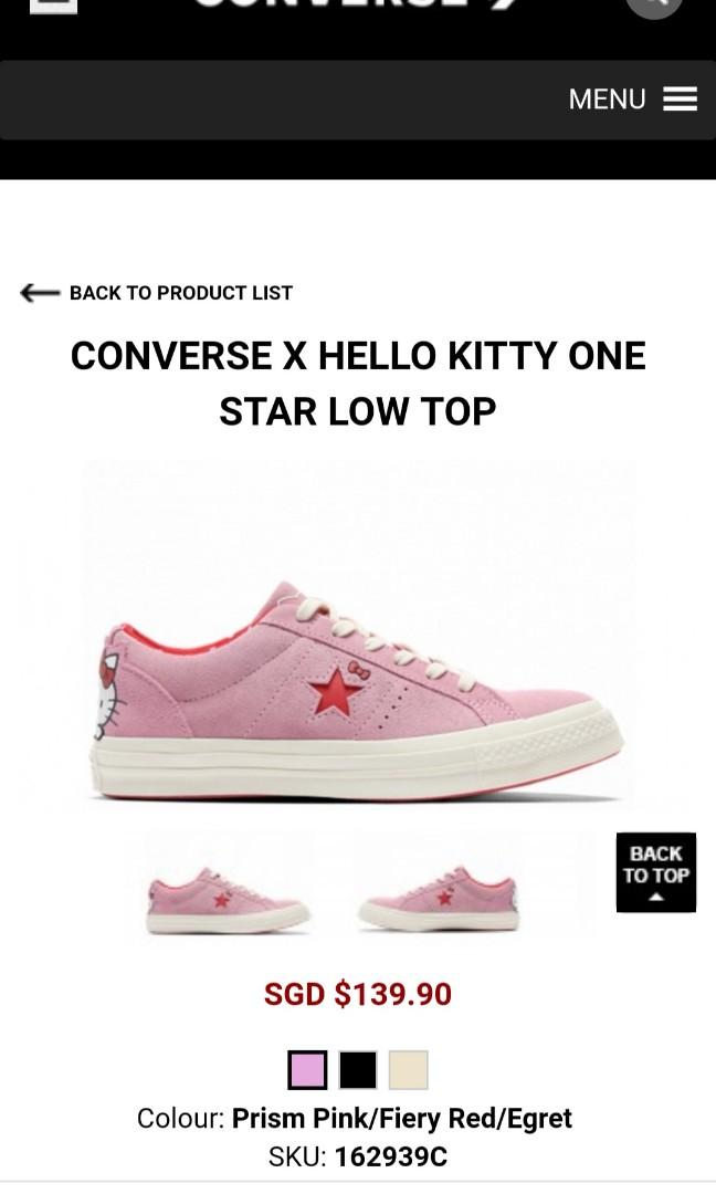033ddc4641ca BNIB CONVERSE X HELLO KITTY ONE STAR PINK