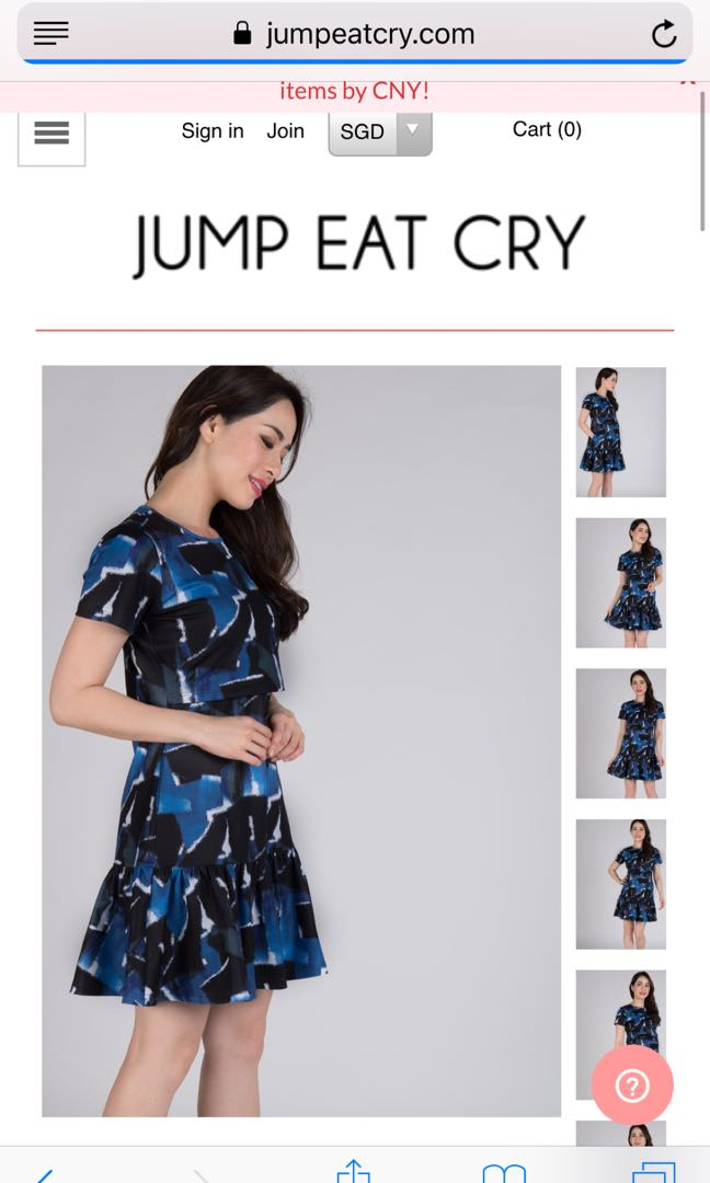 0ab2f622f19 BNWT Jump Eat Cry Leorie peplum nursing dress, Women's Fashion ...