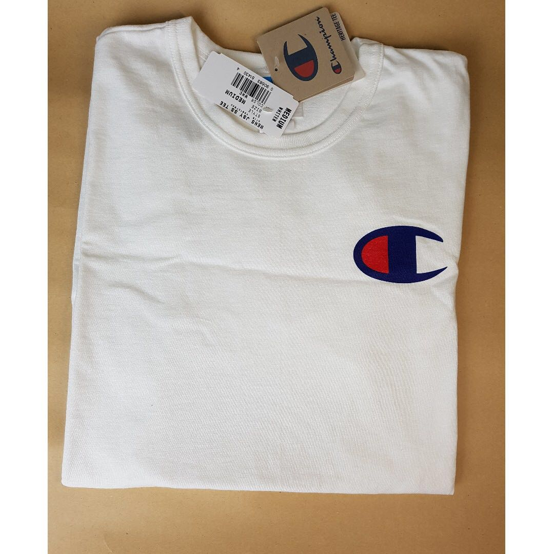 2bab8053 champion tee, Men's Fashion, Clothes, Tops on Carousell