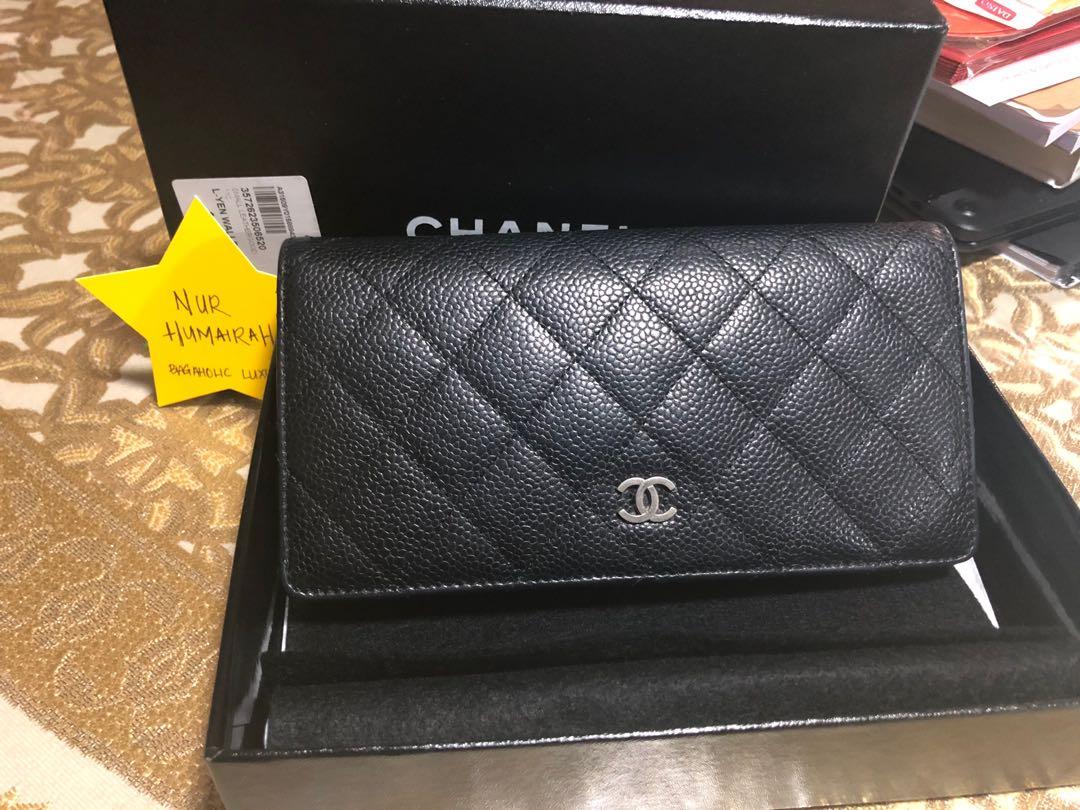 f09ab7efe9d81b Chanel Classic Yen wallet.. Black Caviar with SHW., Luxury, Bags ...