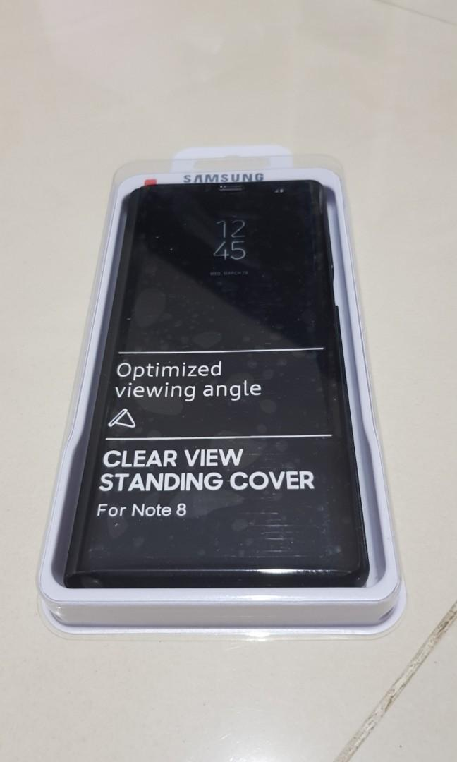 #CNY2019 case samsung note 8 clear view standing cover