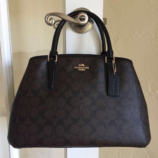 b4b74c579 Coach F34608 Small Margot Carryall Satchel Handbag Purse Shoulder Bag,  Women's Fashion, Bags & Wallets on Carousell