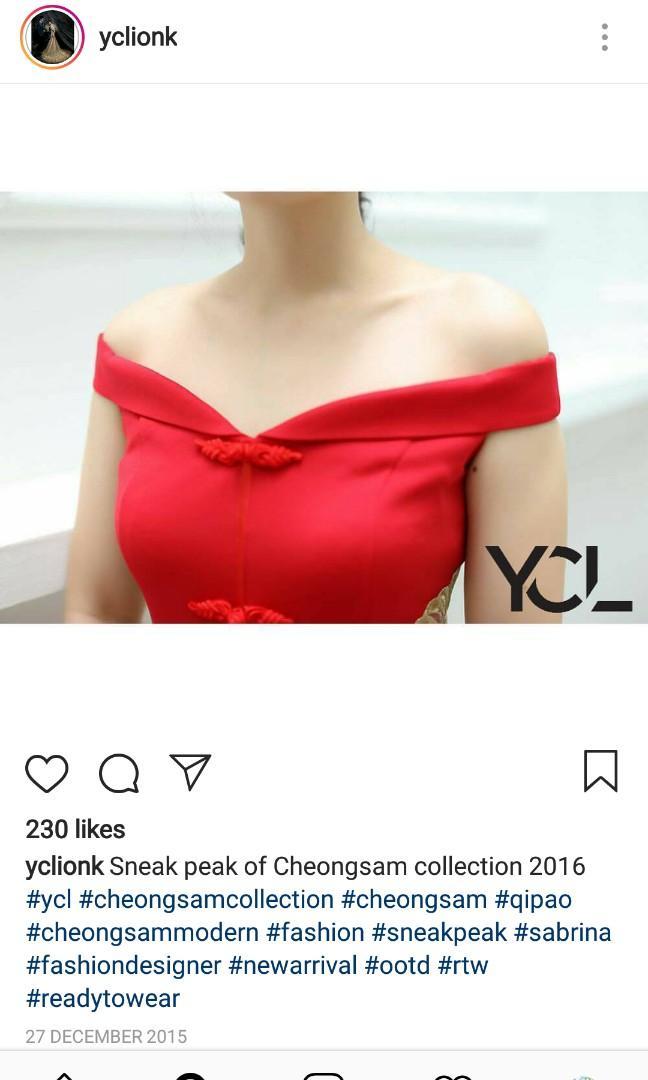 Dress Imlek/ designer indonesia