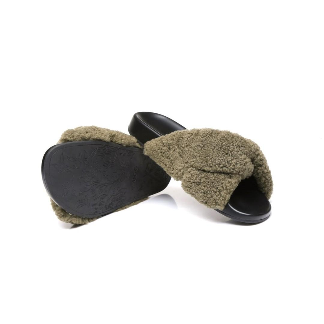 Ever UGG Becci, New Fashion Women Wool Comfortable Summer Slide Slippers Sandals
