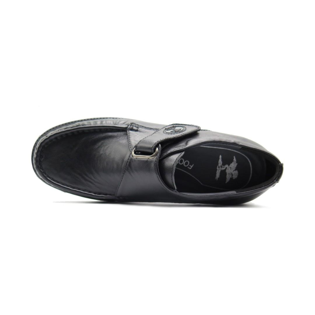 Foot tree Black Leather Shoes