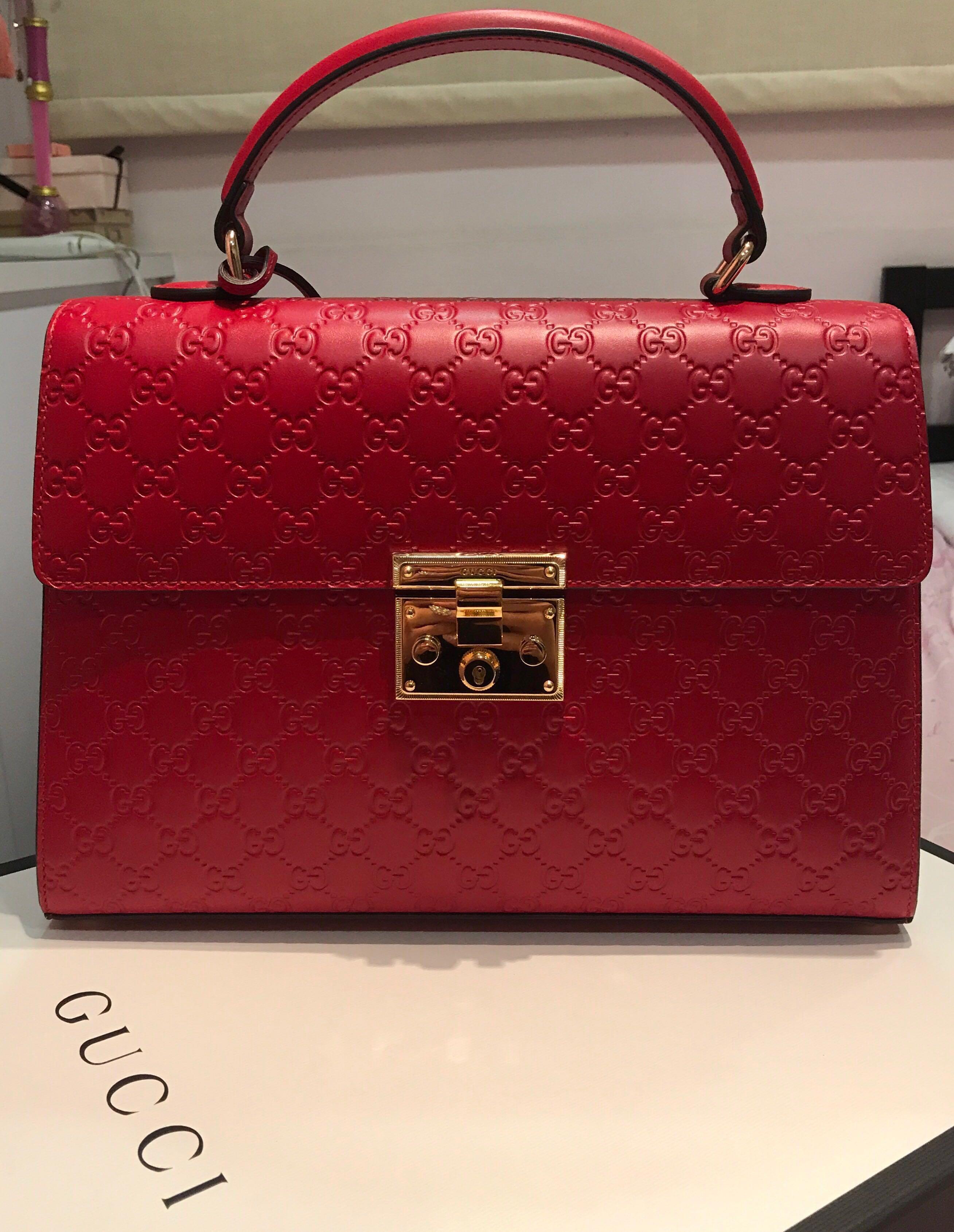 4aefe634b5ada8 Gucci Signature Padlock top handle bag, Luxury, Bags & Wallets ...