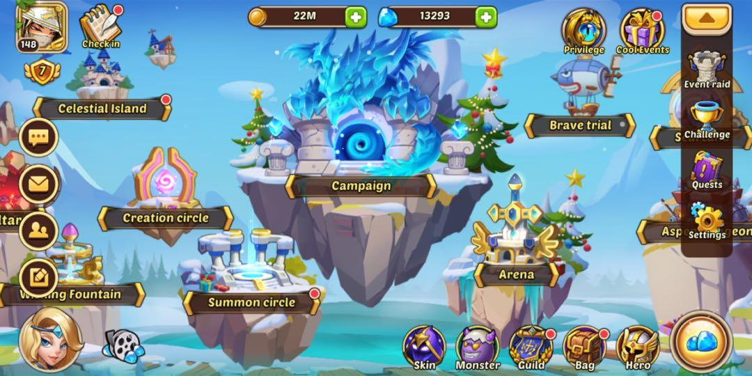 Idle Heroes IOS S482 account FOR CHEAP URGENT, Toys & Games