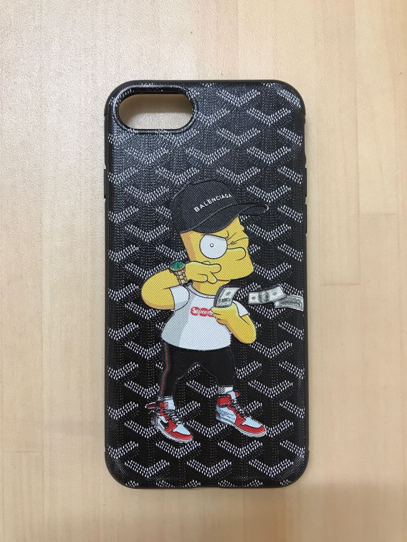 super popular a8afa 285e1 iPhone 7 Goyard Bart Simpson Case