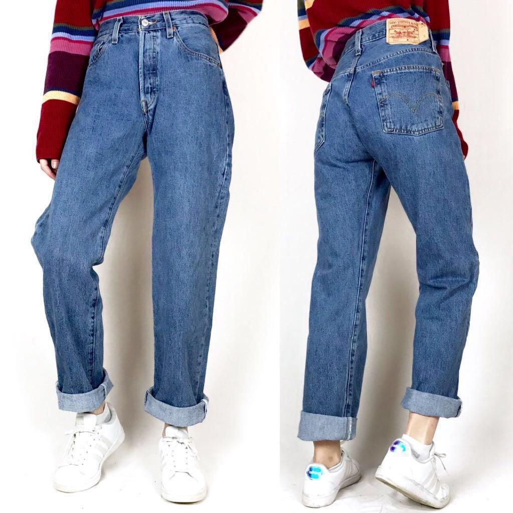 09c93c8e7b Levi's 501 Highwaist Straight Jeans, Women's Fashion, Clothes, Pants ...