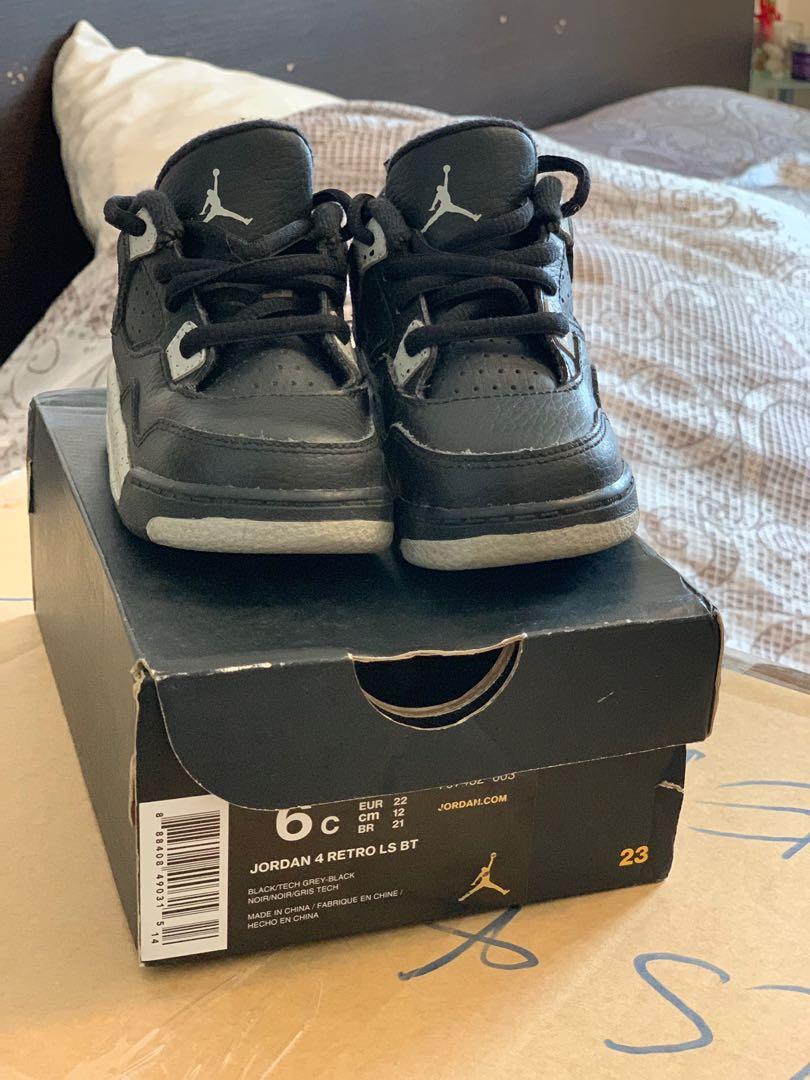 size 40 f8bcc a83ba Like new Baby Jordan 4 Retro Oreo 6C