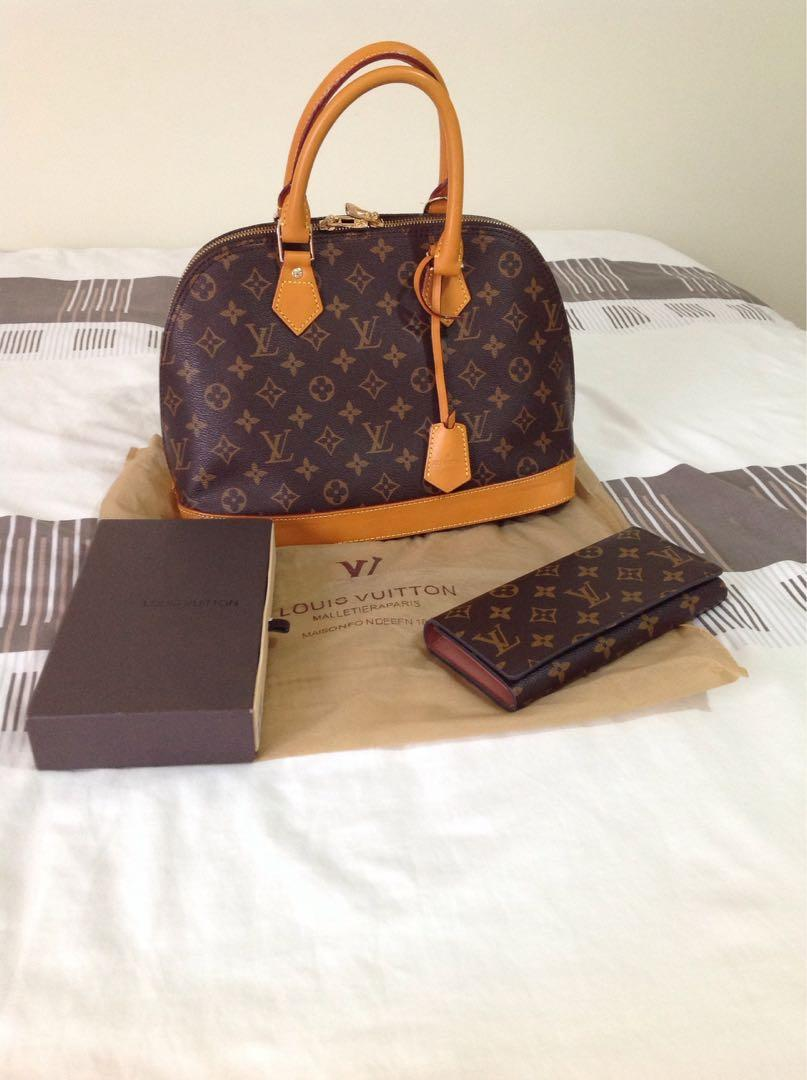 Louis Vuittonn (both wallet and bag package deal)