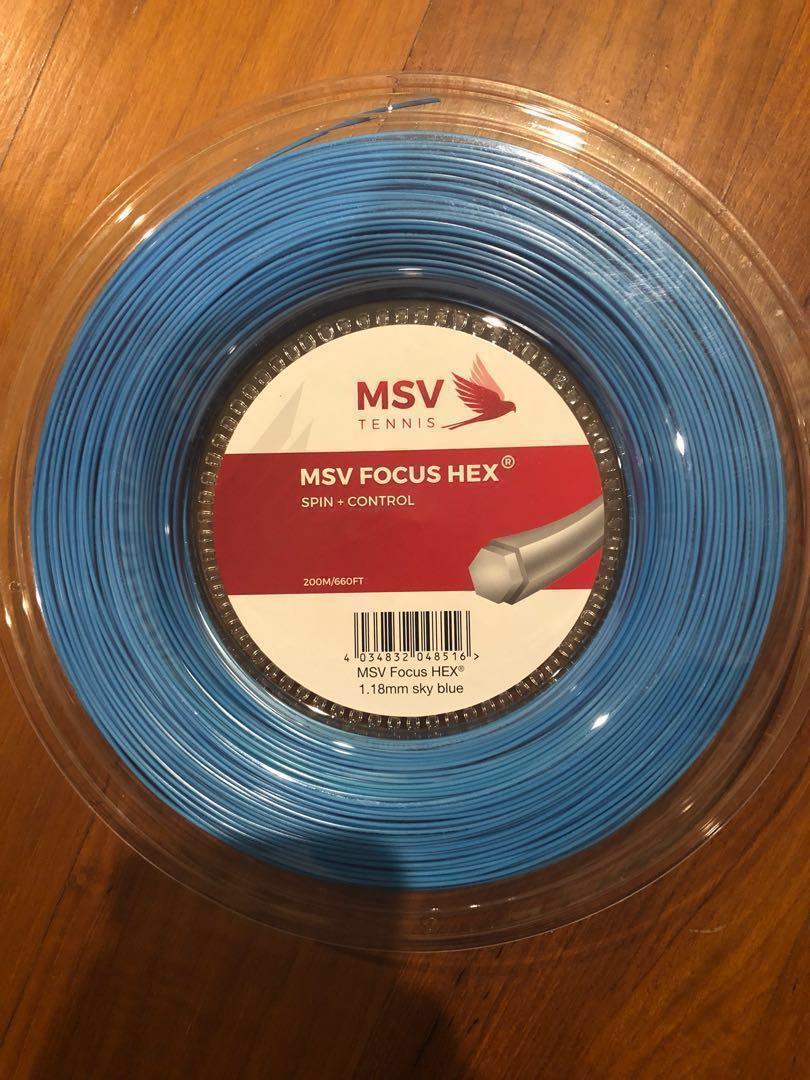 MSV Focus-Hex 17L 1.18mm Tennis Strings 200M Reel
