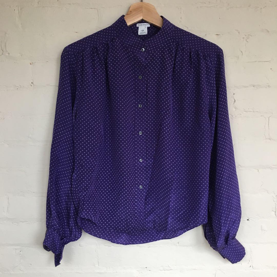 New! Silk Club Monaco blouse - S