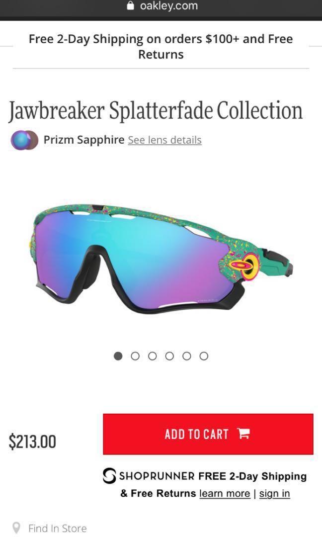 ece84e3b92c Oakley jawbreaker splatterfade