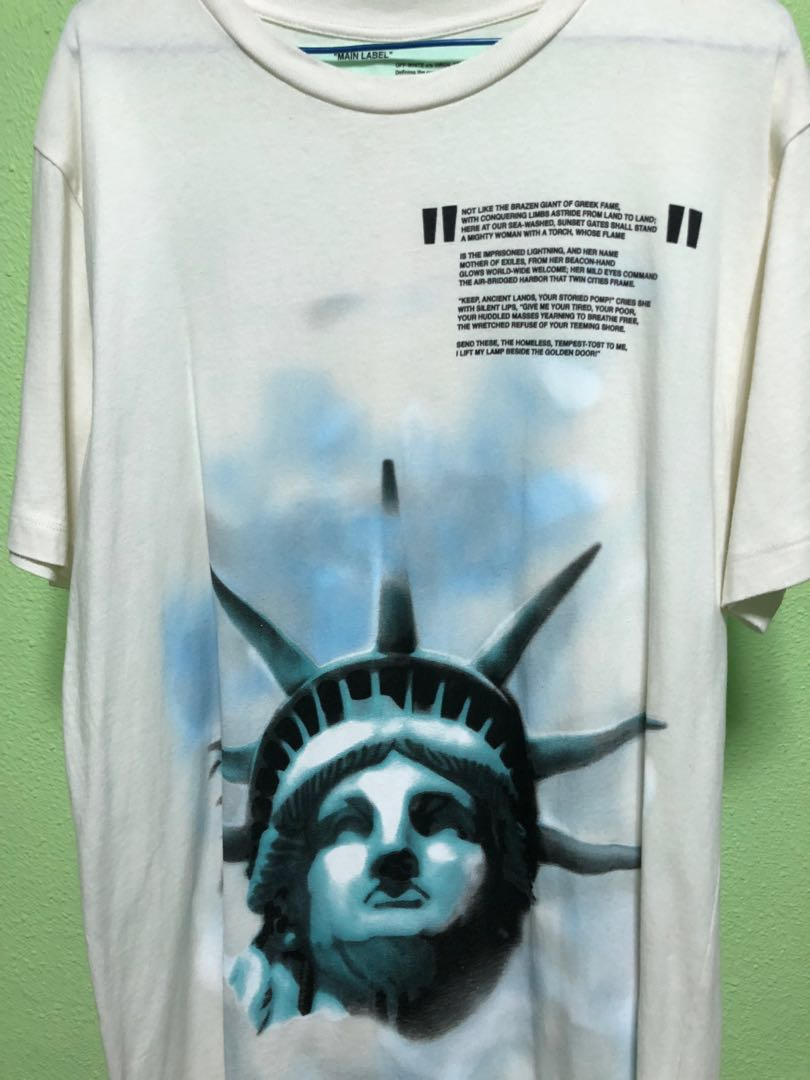 19d05e69 Off White Liberty Tee, Men's Fashion, Clothes, Tops on Carousell