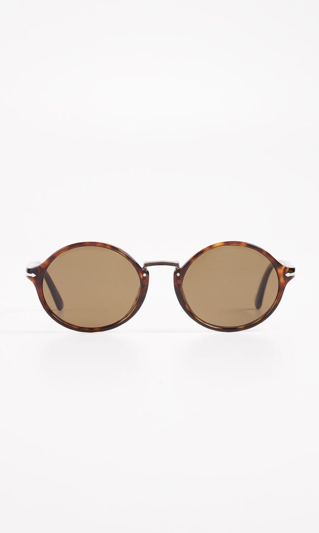 08e1def157cee Persol Havana Brown Polarised Round Frame Shades (Sale)