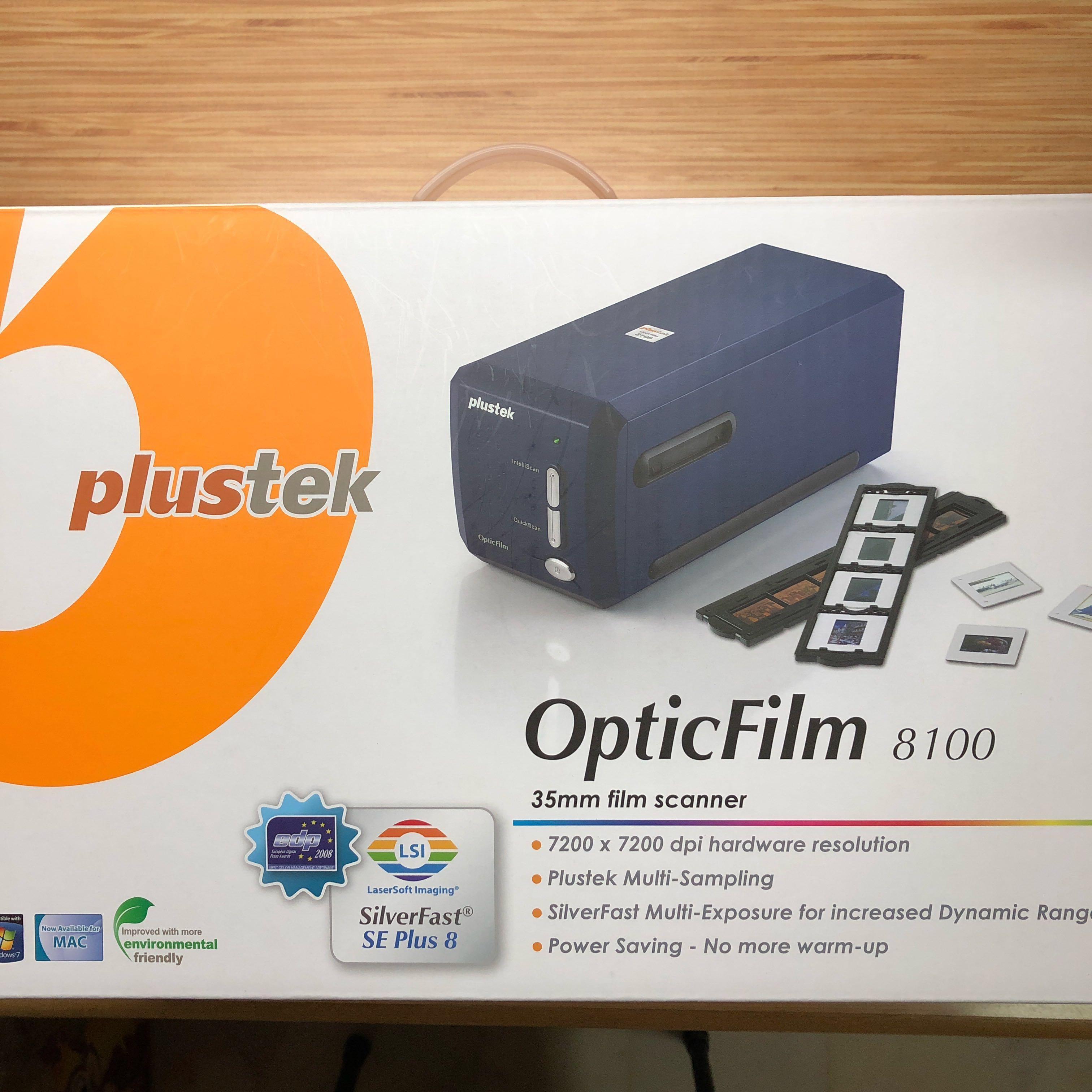 Plustek OpticFilm 8100 Film Scanner, Photography, Camera