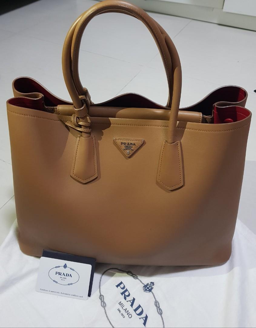 f3811cb6aa Prada Brown Tote bag (Big), Women's Fashion, Bags & Wallets ...