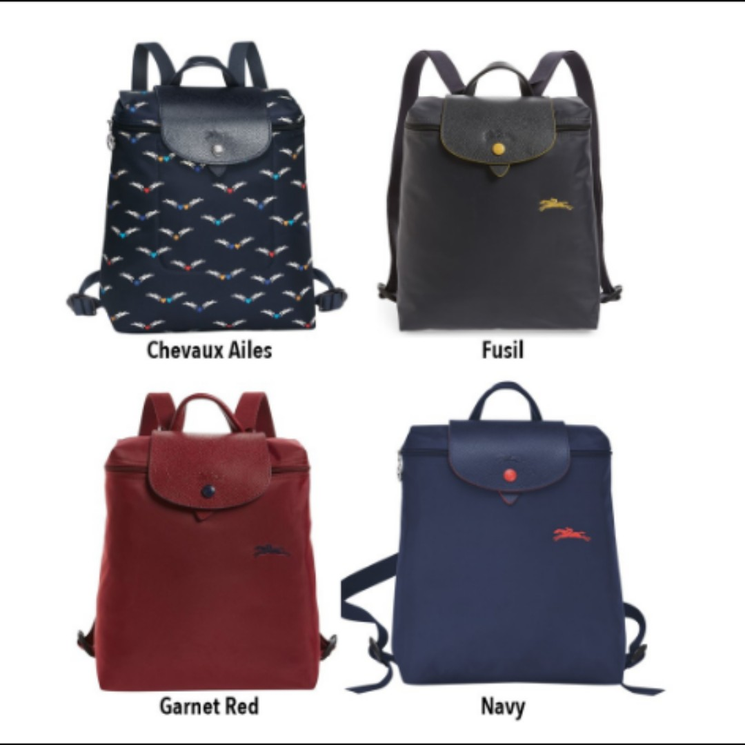 251ae32475 READY STOCK - Longchamp Le Pliage Club And 1699 Series Backpacks ...