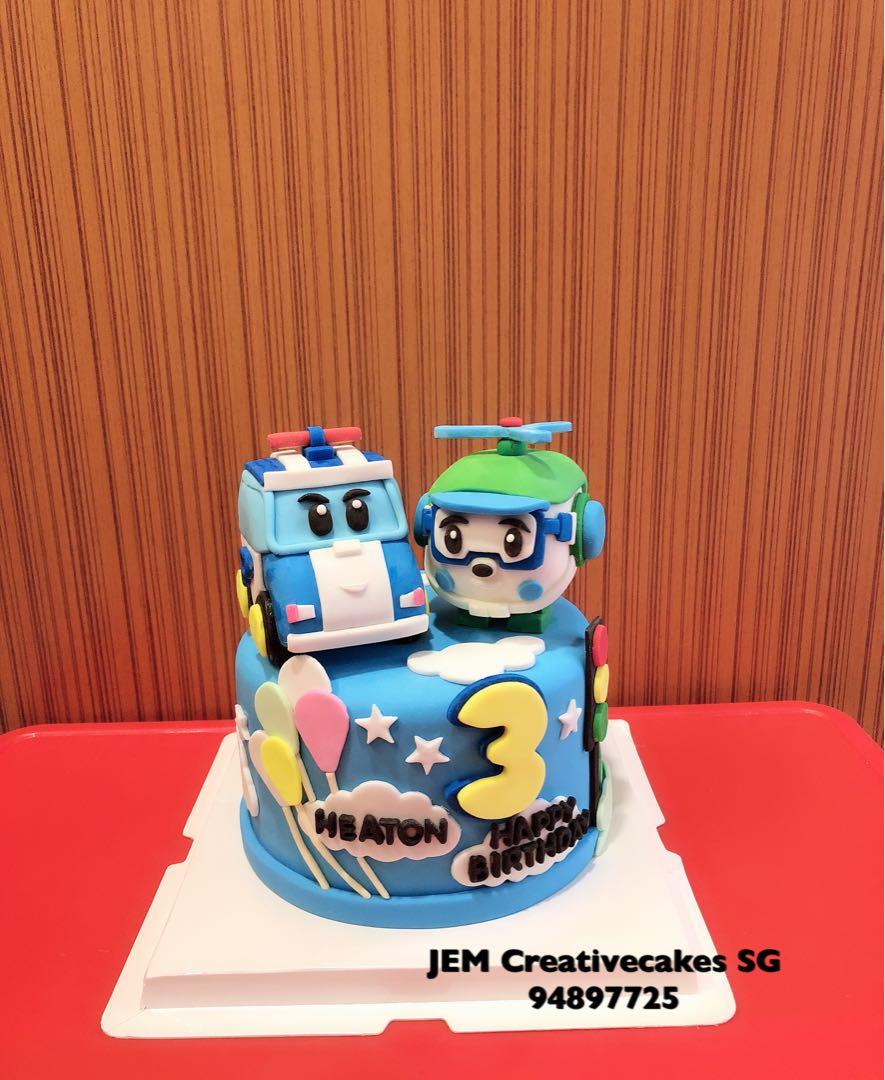 Robotcarpoli Birthday Cake Food Drinks Baked Goods On Carousell
