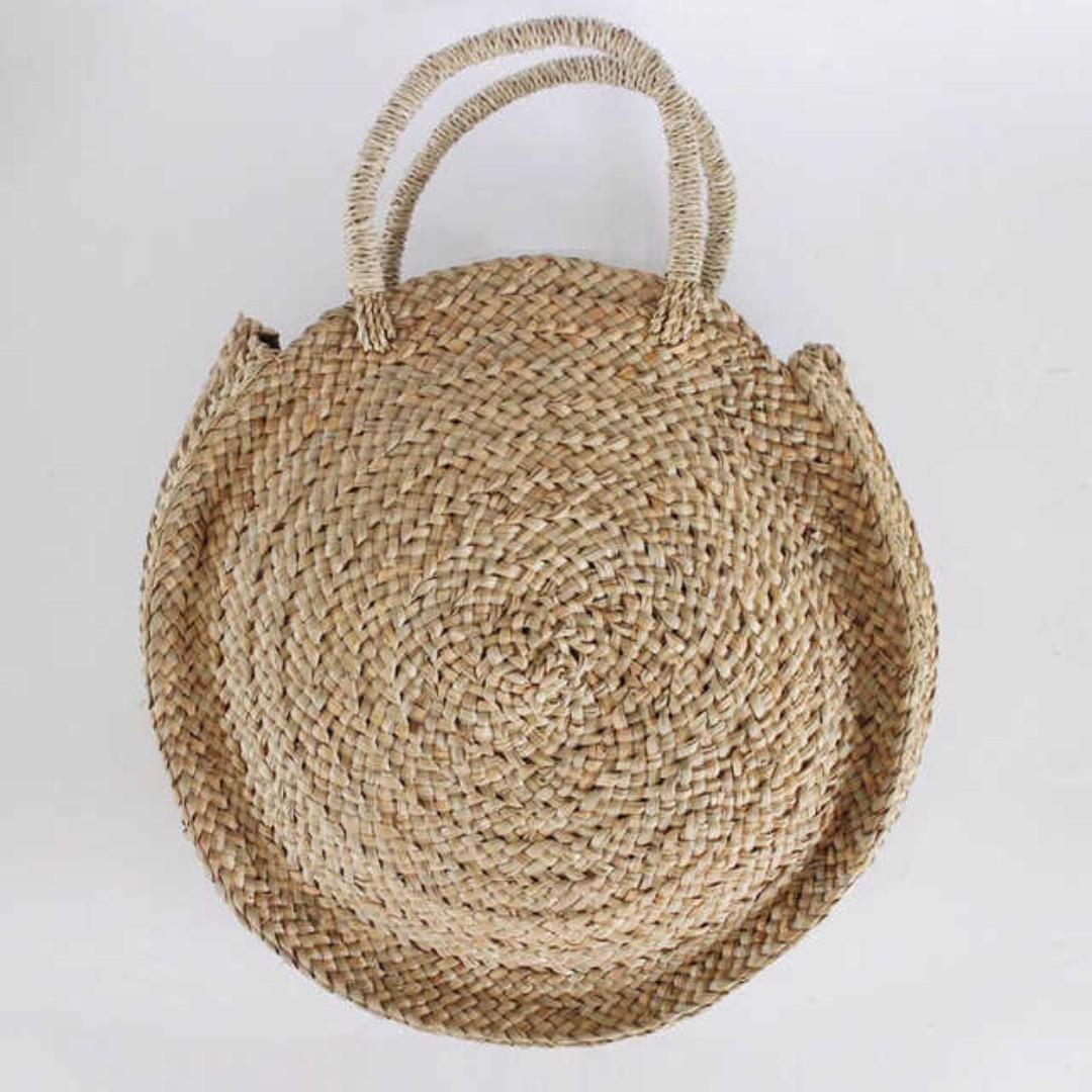 SALE Rattan Bali Circle Weave Bag / Handbag