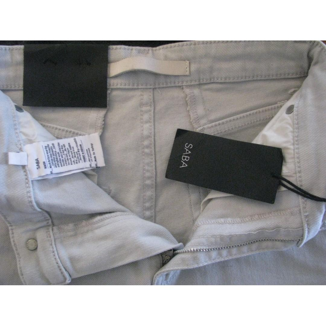 """Saba Pale Grey """"Meg"""" Low Rise Tapered Jeans - Size 22/24"""