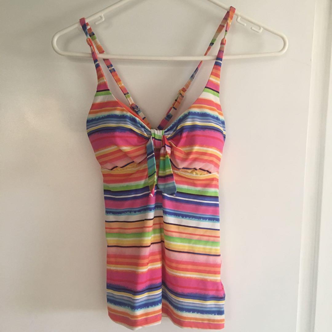 Seafolly rainbow bikini tankini top and bottoms