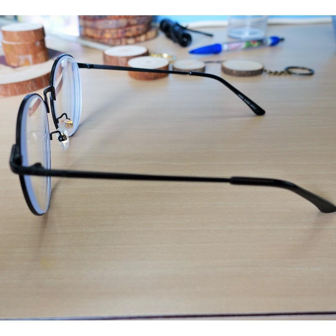 Spectacle Frame Large Round Retro Vintage Metal Lightweight Fashionable