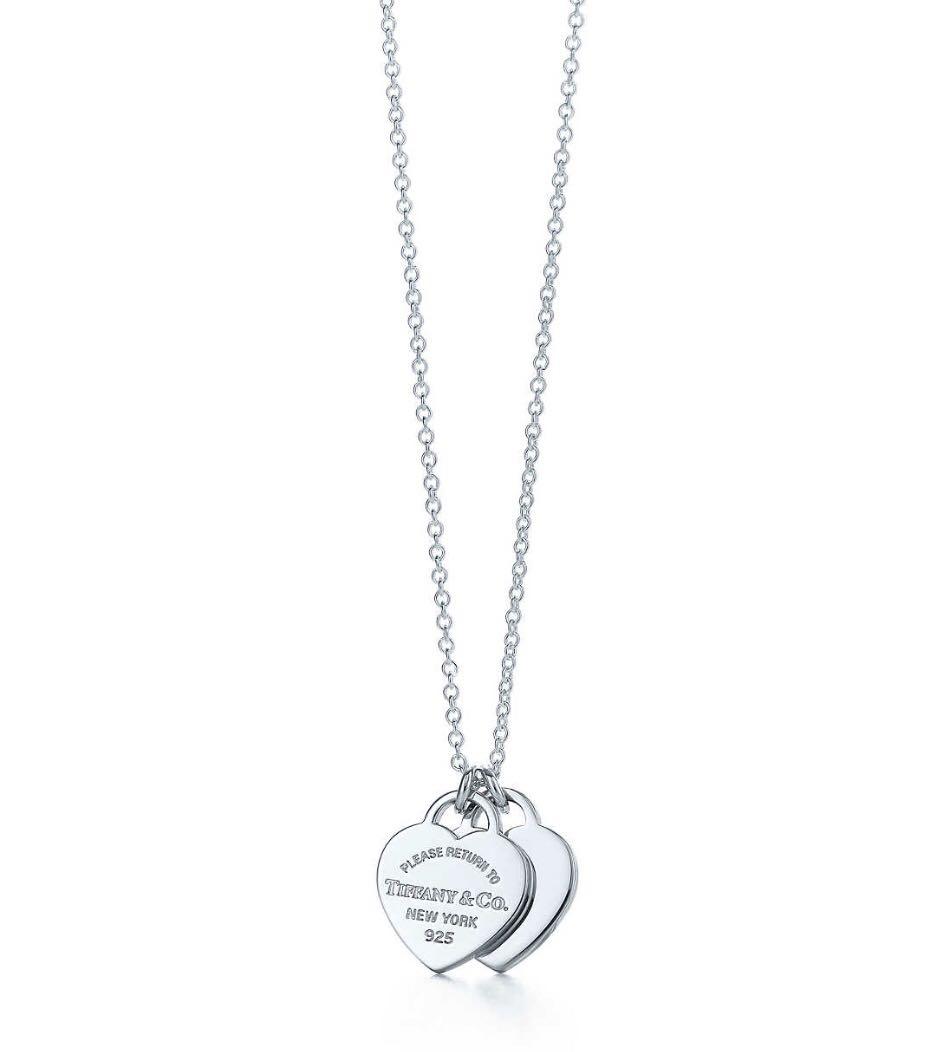 3c29fec8a75c6 Tiffany & Co RETURN TO TIFFANY® Mini Double Heart Tag Pendant ...