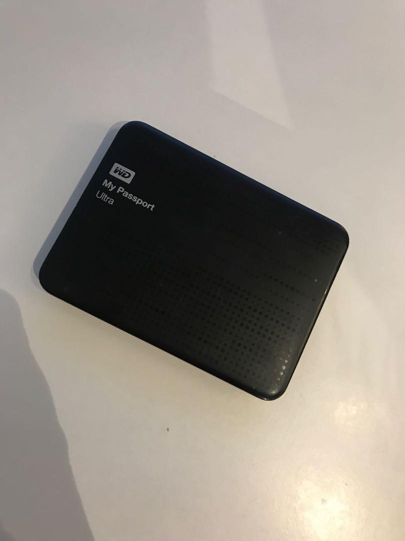 WD My Passport Ultra 1 TB Portable External Hard Drive, Black