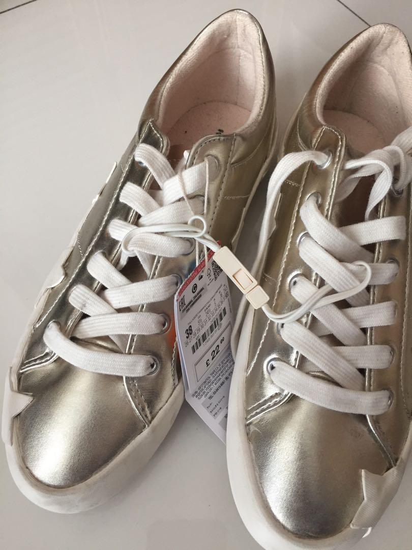 Zara Gold Stars Sneakers / Trainers
