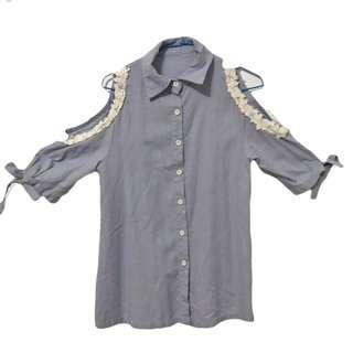 🚚 #一百均價 短袖牛仔罩衫