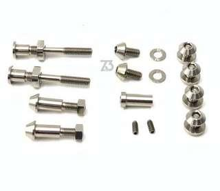 🚚 (Z3) 2018 Titanium Brake Caliper Bolts Set (Silver) for Brompton