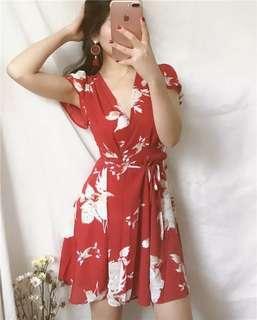 Floria red dress