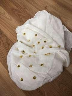 Scarf studded gold