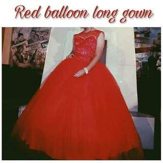 Red Long Gown for Rent