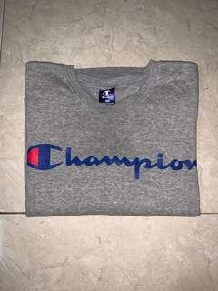 Authentic grey Champion sweater tee shirt