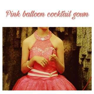 Pink Cocktail Gown for Rent