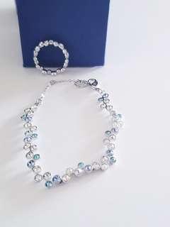 Swarovski Set Bracelet and Ring - Valentine's Special