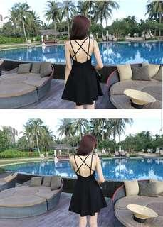 🚚 Sexy Cross Back Fit and Flare dress
