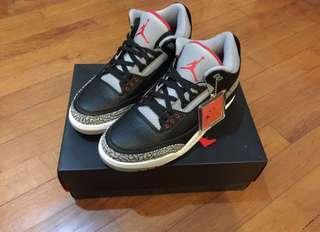 Jordan 3 Black Cement UK10/US11