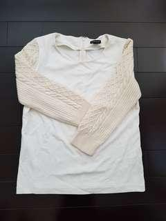 Club Monaco Cable Knitted Sleeves