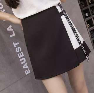 [ INSTOCKS ] ulzzang black and white skirt