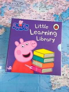 NEW~🐷 Peppa Pig Little Learning Library( 4 Mini board book set )