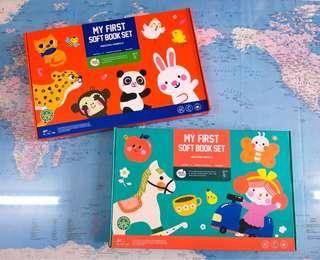 NEW~🐼🐰🐯🐵 Joan Miro My First 6 mini Soft Book Set ( amazing world / amazing animals)