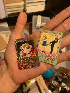 1993 Sailormoon mini card 卡咭 x2 Bandai