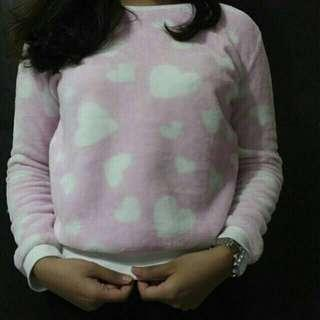 sweater pink love