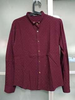 🚚 1 x used maroon long sleeve shirt size L with delivery