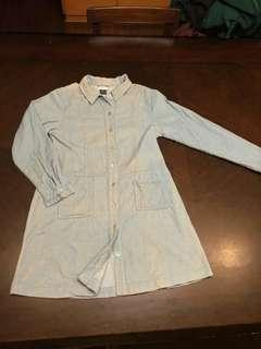 🚚 洗舊感燈芯絨襯衫洋裝