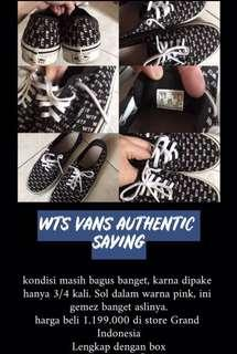 Vans Authentic Saying Original